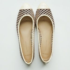 Brown and Cream Aerin Flats